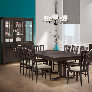 086 dining table chairs and cabinet - Dining Table With Chairs