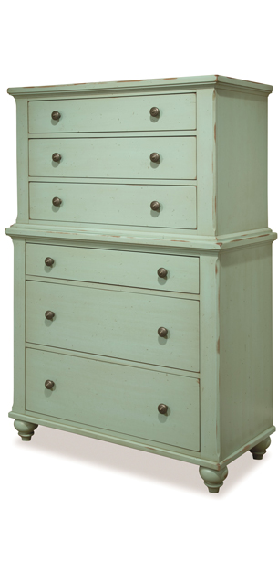 solid canadian maple turquoise chest on chest - Uptown Modern Furniture Toronto